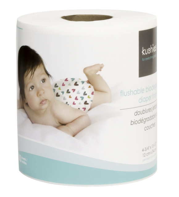 Kushies Flushable/Biodegradable Diaper Liner Rolls