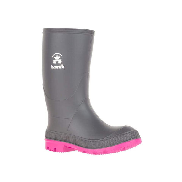 Kamik Rain Boot STOMP Charcoal/Magenta