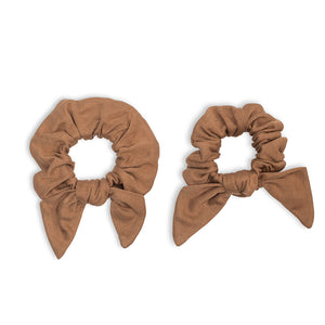 Lulujo Mommy & Me Scrunchies Tan