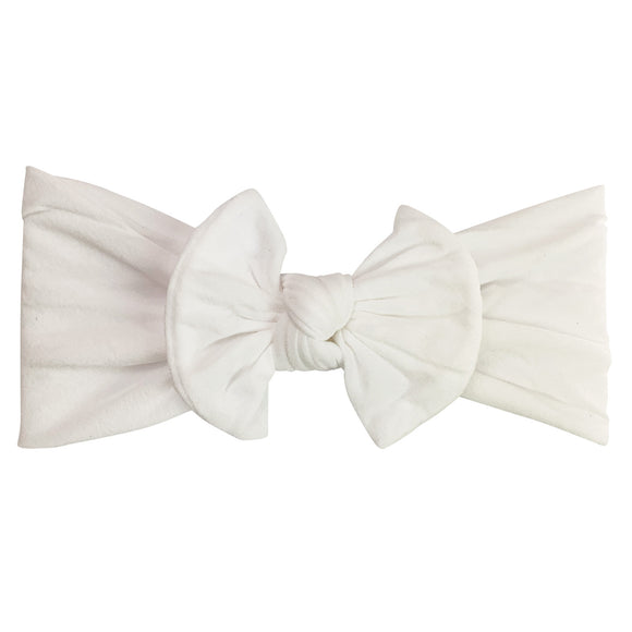 Baby Wisp Nylon Headband Bow White