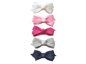 Baby Wisp - Small Snap Chelsea Boutique Bow 5pk Prep Girl