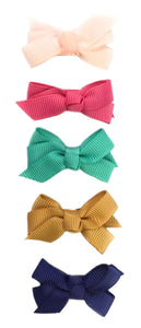 Baby Wisp Small Snap Chelsea Boutique Bow 5pk - Chantilly, Rose, Aqua