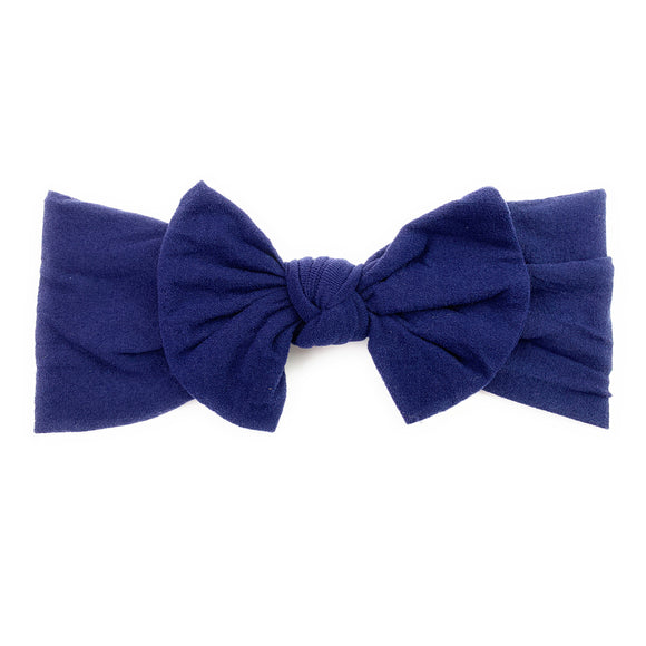 Baby Wisp Nylon Headband Bow Navy