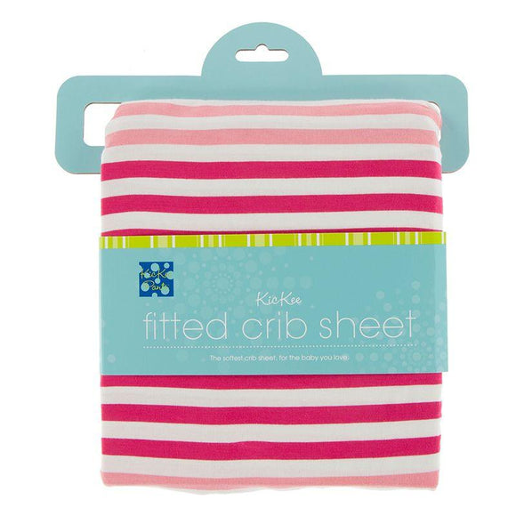 KicKee Pants Print Fitted Crib Sheet Forest Fruit Stripe
