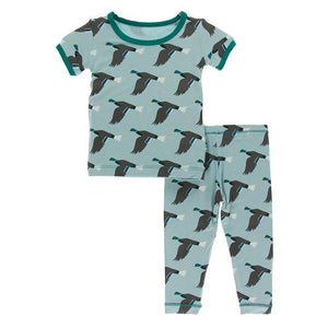 KicKee Pants Print Short Sleeve Pajama Set Jade Mallard Duck