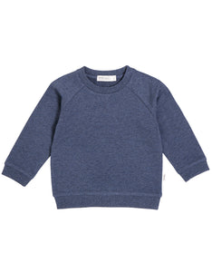 Miles Baby Crew Marled Blue