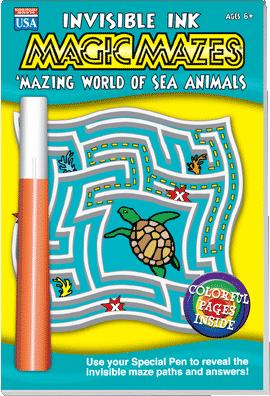 Yes & Know Invisible Ink Magic Mazes Amazing World of Sea Animals