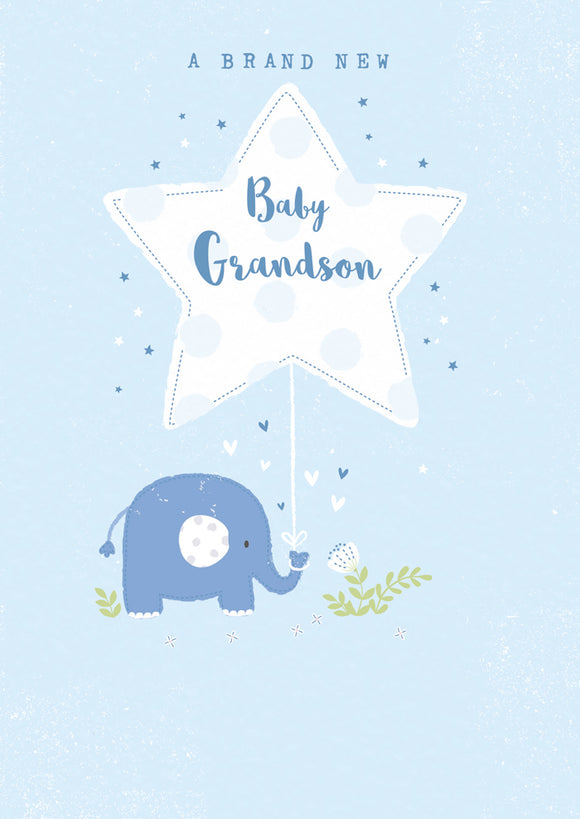 Baby Card Elephant Grandson