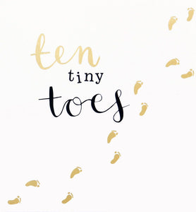 Baby Card Ten Tiny Toes