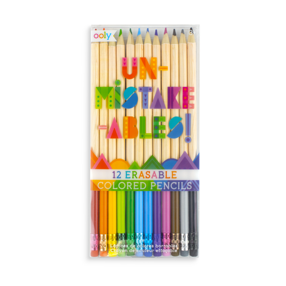 Ooly UnMistakeAbles Erasable Colored Pencils 12pk