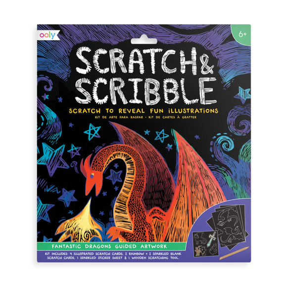 Ooly Scratch & Scribble Art Kit Fantastic Dragons