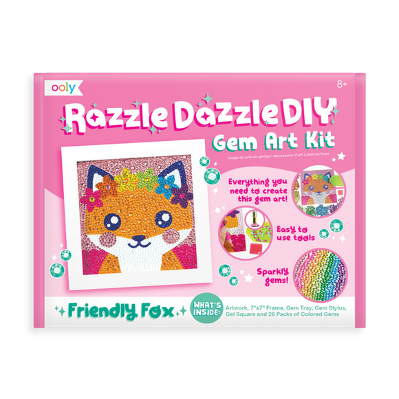 Ooly Razzle Dazzle DIY Gem Art Kit Friendly Fox