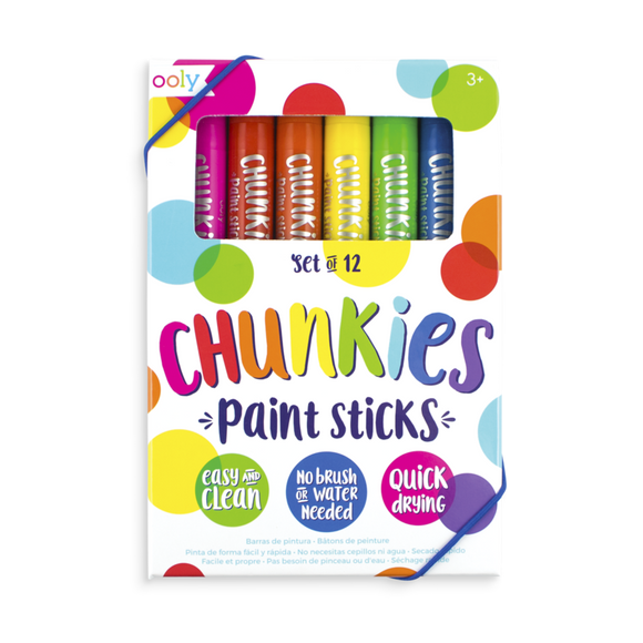 Ooly Chunkies Paint Sticks 12pk