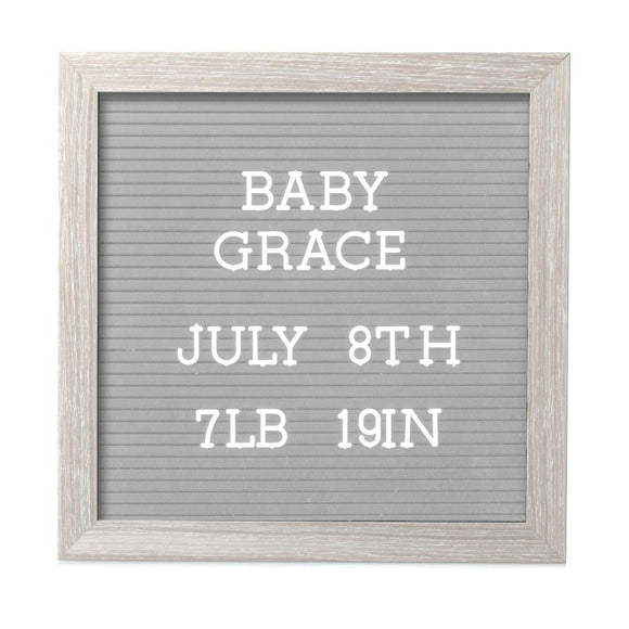 Pearhead Letterboard Set Light Grey