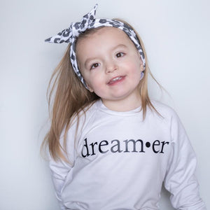 Posh & Cozy FINAL SALE Crew DREAMER, Bone