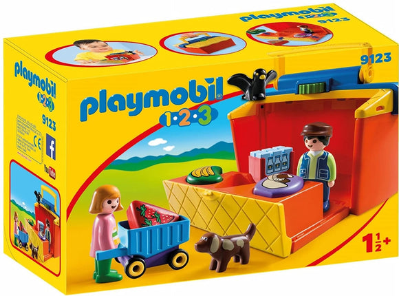 Playmobil 123, 9123 Take Along Market Stall