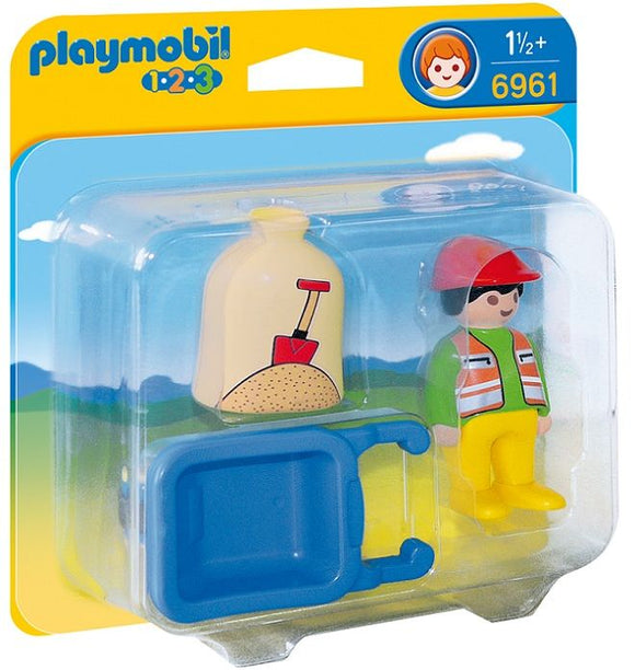 Playmobil 123, 6961 Man w/Wheelbarrow