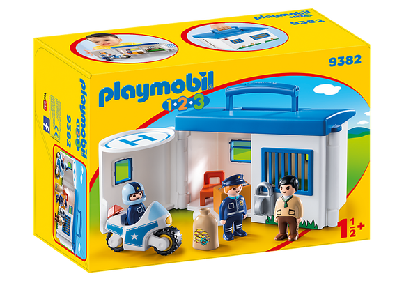 Playmobil 123, 9382 Take Along Police Station