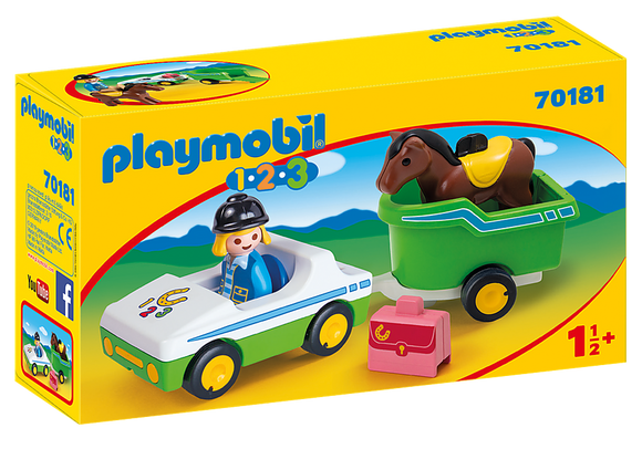 Playmobil 123, 70181 Car with Horse Trailer