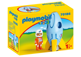 Playmobil 123, 70186 Astronaut with Rocket