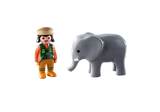 Playmobil 123, 9381 Zookeeper with Elephant