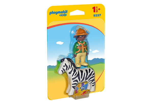 Playmobil 123, 9257 Ranger with Zebra