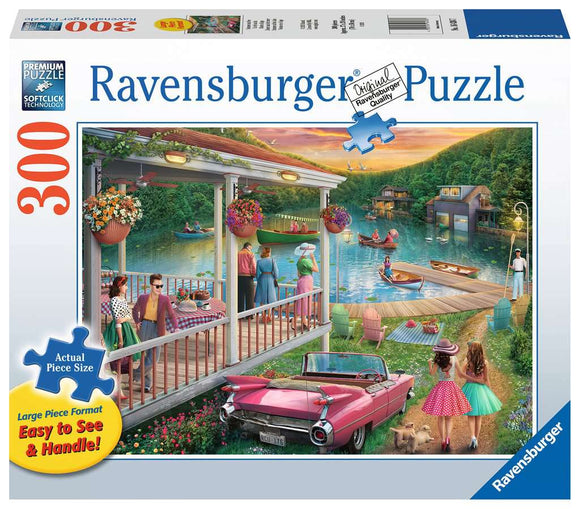 Ravensburger 300pc Large Format Puzzle Summer at the Lake