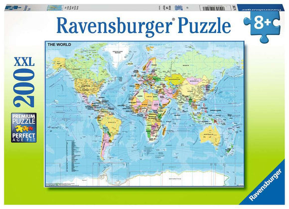 Ravensburger 200pc 12890 Puzzle Map of the World