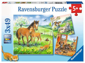 Ravensburger 3x49pc 08029 Puzzle Cuddle Time