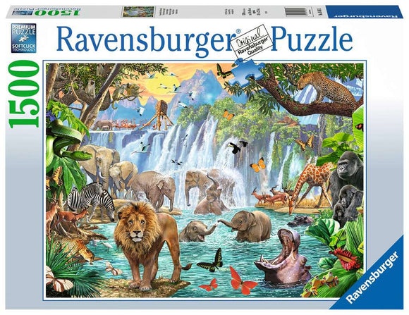Ravensburger 1500pc Puzzle 16461 Waterfall Safari