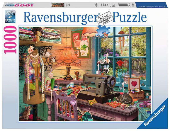 Ravensburger 1000pc Puzzle 19892 The Sewing Shed