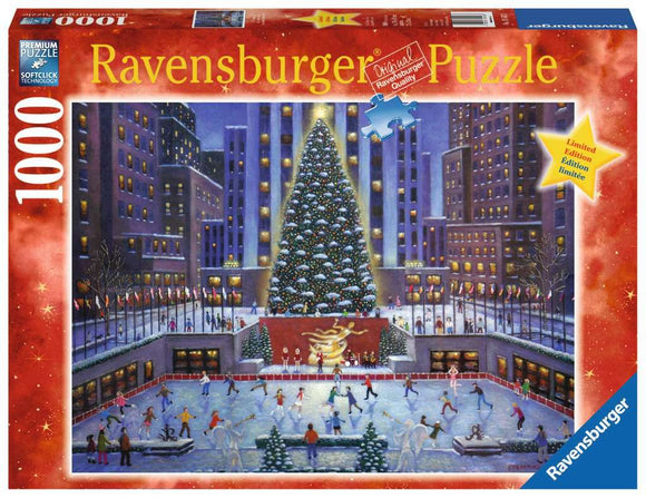Ravensburger 1000pc Puzzle 19563 Rockefeller Center NYC Christmas
