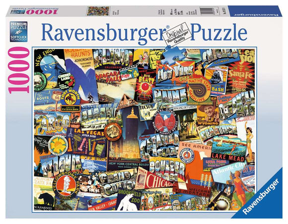 Ravensburger 1000pc Puzzle 19212 Road Trip USA
