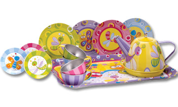 Schylling Summer Bugs Tin Tea Set