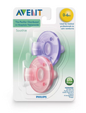 Avent Soothie Pacifier 2pk Pink/Purple 0-3m