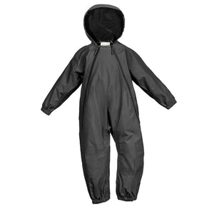 Splashy 1pc Nylon Rain & Mud Suit Black