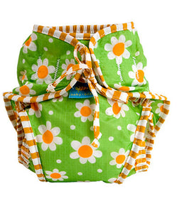 Kushies Swim Diaper Green Daisies
