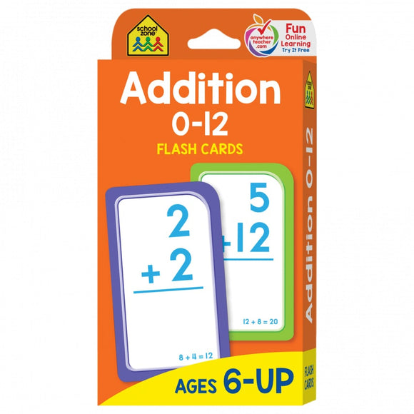 School Zone Flash Cards Addition Ages 6-UP