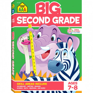 School Zone Workbook BIG Second Grade Ages 7-8