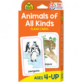 School Zone Flash Cards Animals of All Kinds Ages 4-UP