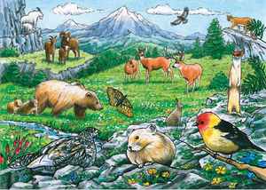 Cobble Hill 35pc Tray Puzzle Rocky Mountain Wildlife