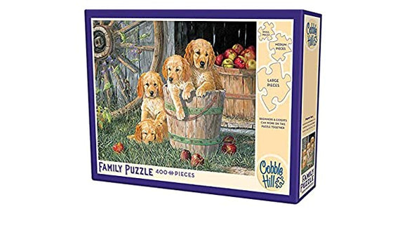 Cobble Hill 350pc Family Puzzle Puppy Pail