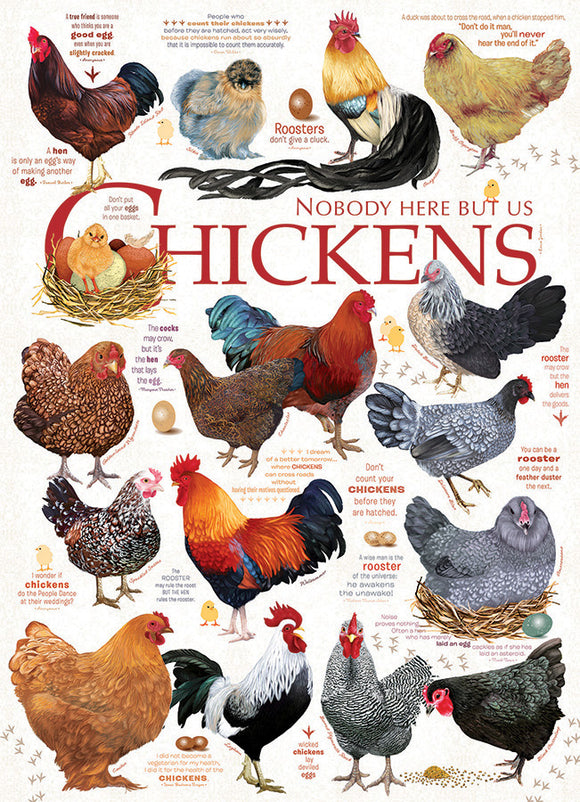 Cobble Hill 1000pc Puzzle 80120 Chicken Quotes