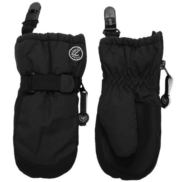 Calikids W0122 Waterproof Mitten With Clips - Black