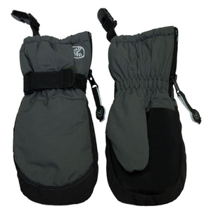 Calikids W0122 Waterproof Mitten With Clips - Charcoal