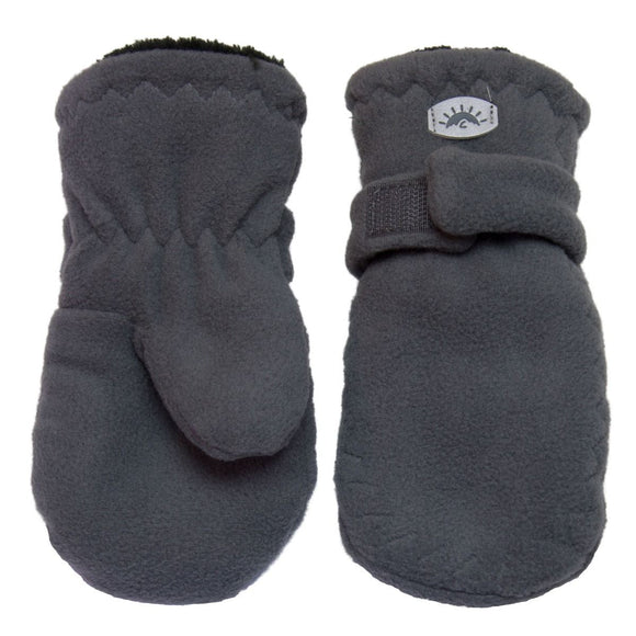 Calikids W1886 Fleece Mitten With Velcro - Graphite