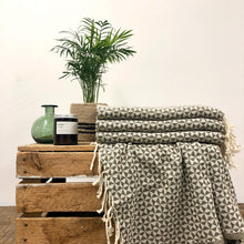 Load image into Gallery viewer, Fouta Towel, Wrap or Small Throw - Grey Geometric
