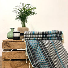 Load image into Gallery viewer, Fouta Towel, Wrap or Small Throw - Light Grey Berber