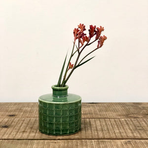 Ceramic vase - emerald green