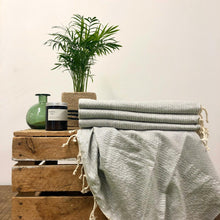 Load image into Gallery viewer, Fouta Towel, Wrap or Small Throw - Soft Grey